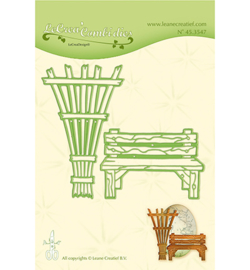 45.3547 Lea'bilitie Cutting/Emb. Garden bench & trellis