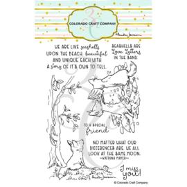 C3AJ501 Colorado Craft Company Clear Stamps A Fox's Life-By Anita Jeram