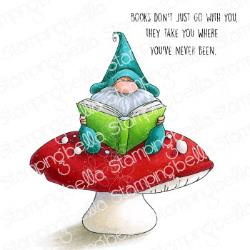 EB903 Stamping Bella Cling Stamps Reading Gnome