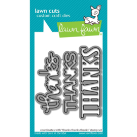 LF2406 Lawn Cuts Custom Craft Die Thanks Thanks Thanks