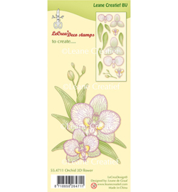 55.4711 Leane Creatief Clear Stamp Orchidee 3D Flowerr