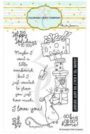 "C3AJ543 Colorado Craft Company Clear Stamps Big Love-By Anita Jeram 4""X6"""