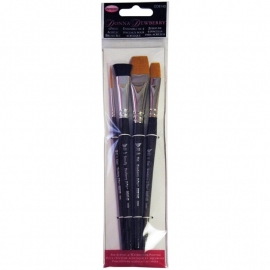135236 Donna Dewberry Acrylic Brush Set 4pc