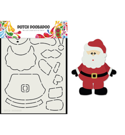 470.713.830 Dutch DooBaDoo Card Art Built up Santa