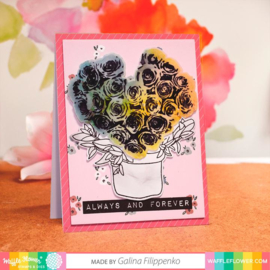 647551 Waffle Flower Stamp & Die Set Rose Bouquet