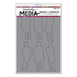 MDS60604 Ranger Dina Wakley media stencil funky silhouettes
