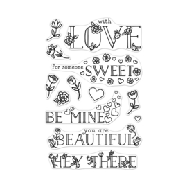 """621713 Hero Arts Clear Stamps Loving Messages 4""""X6"""""""