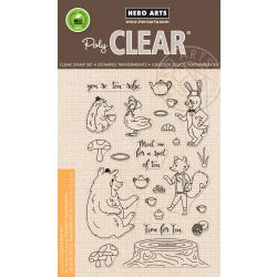 "HA-CM229 Hero Arts Clear Stamps Woodland Tea Party 4""X6"""