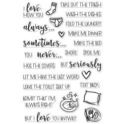 """321876 Hero Arts Clear Stamps I Love How You...  4""""X6"""""""