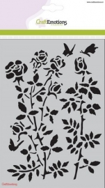 185070/1235 CraftEmotions Mask stencil Botanical Rose Garden A5