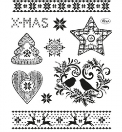 4003.146.00  Viva Clear Stamps Weihnachtsmotive II