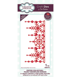 CED3178 Creative Expressions Pearly Snowflake Border