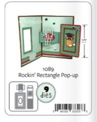 KBR1089 Karen Burniston Dies Rockin' Rectangle Pop-Up
