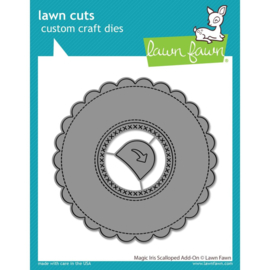 LF2240 Lawn Cuts Custom Craft Die Magic Iris Scalloped Add-On
