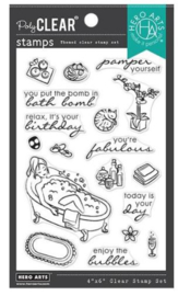 "637341 Hero Arts Clear Stamps Bubble Bath 4""X6"""