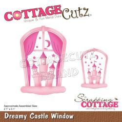 "CCE598 CottageCutz Dies Dreamy Castle Window 2.1""X3.1"""