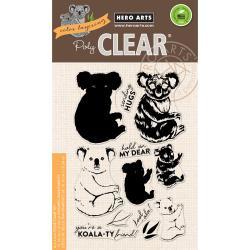 "HA-CM163 Hero Arts Clear Stamps Color Layering Koala 4""X6"""