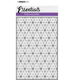 SL-ES-EMB06 -SL 3D Embossing Folder Double diamond stripes Essentials nr.06