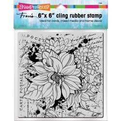 560368 Stampendous Cling Stamps Dahlia Collage