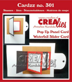 115634/5501 Crealies Cardzz Waterval schuifkaart + Omklap schuifkaart CLCZ301 fits on most cardsizes