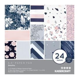 PP1063 Kaisercraft paper pad 16,5x16,5cm Breathe