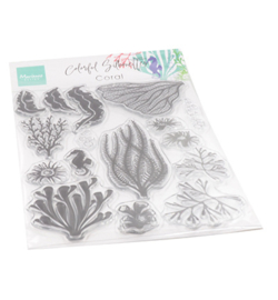 CS1062 Marianne Design clear stamp Colorfull Silhouette Coral