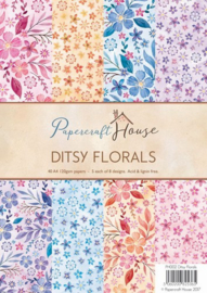 117000/1502 Wild Rose Studio`s A4 Paper Pack Ditsy florals a 40 VL PH002