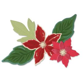 665331 Sizzix Framelits Die & Stamp Set Seasonal Flowers By Lisa Jones 6/Pkg