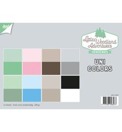 6011/0582 Papierset LWA  Uni Colors