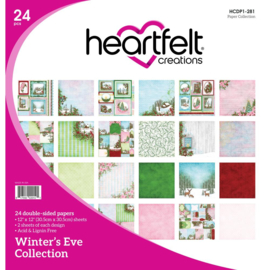 """074206 Heartfelt Creations Double-Sided Paper Pad Winter's Eve 12""""X12"""" 24/Pkg"""