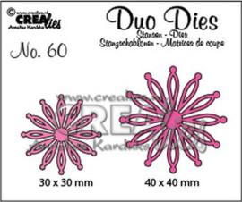 115634/0760 Crealies Duo Dies no. 60 open Bloemen 25 CLDD60 30 mm - 40 mm