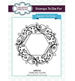 UMS763 Stamps To Die For Twirling Tulips