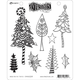 "553392 Dyan Reaveley's Dylusions Cling Stamp Collections Wood For The Trees 8.5""X7"""