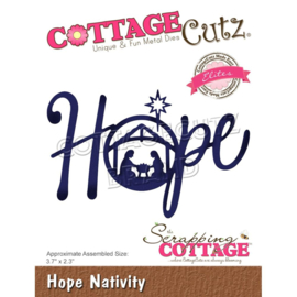 "CCE552 CottageCutz Elites Die Hope Nativity, 3.7""X2.3"""