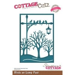 "439965 CottageCutz Elites Die Birds On Lamp Post, 3.5""X5"""