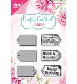 6004/0013 Stamp + Stencil Crafty Cocktail- Labels
