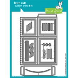 LF1376 Lawn Cuts Custom Craft Die Scalloped Box Card Pop-Up