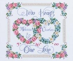 251169 Borduurpakket Two Hearts, One Love