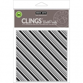 CG681 Hero Arts Cling Stamps Candy Stripe Bold Prints