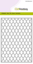 115633/0601 CraftEmotions Die - Cutting Grid - ruit Card 10,5x14,8cm