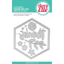 590161 Elle-Ments Dies Pierced Hexagon