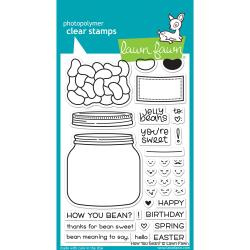 "LF1325 Lawn Fawn Clear Stamps How You Bean? 4""X6"""