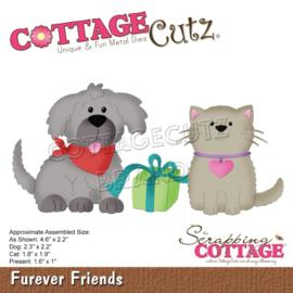 """561322 CottageCutz Dies Furever Friends 1"""" To 4.6"""""""