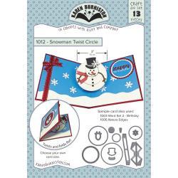 KBR1012 Karen Burniston Dies Snowman Twist Circle Pop-Up
