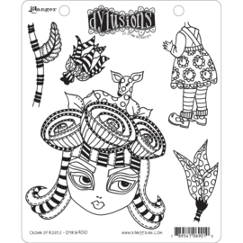 """602346 Dyan Reaveley's Dylusions Cling Stamp Collections Crown Of Roses 8.5""""X7"""""""