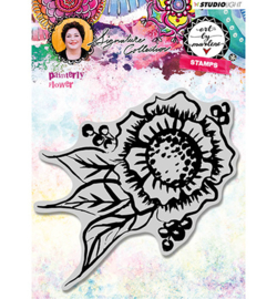 STAMPBM32 StudioLight Rubber Stamp Painterly Flower nr.32
