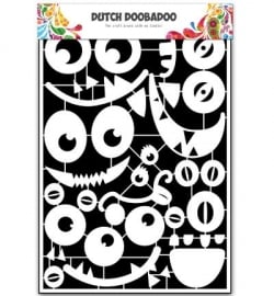 472.948.033 Dutch DooBaDoo Paper Art Monster Faces