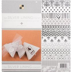 """209072 DCWV Paper Stack Silver Lining 12""""X12"""" 48/Pkg"""