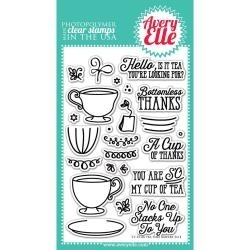 124091 Avery Elle Clear Stamp Set Tea Time