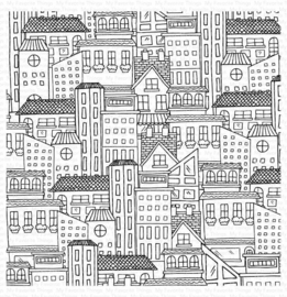 BG130 My Favorite Things City Block Background Stamp